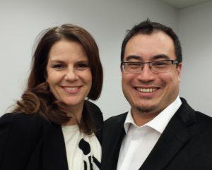 Board members Karen Schulman Dupuis and Sean Yo